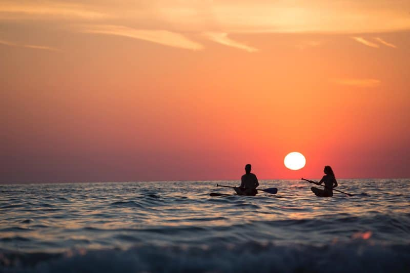 couple paddle boarding, self-care for couples, Ft. Lauderdale, FL