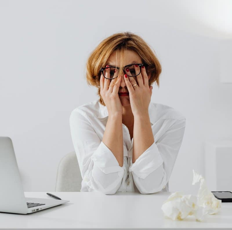 woman stressed out, Stress and anxiety counseling, Ft. Lauderdale, FL